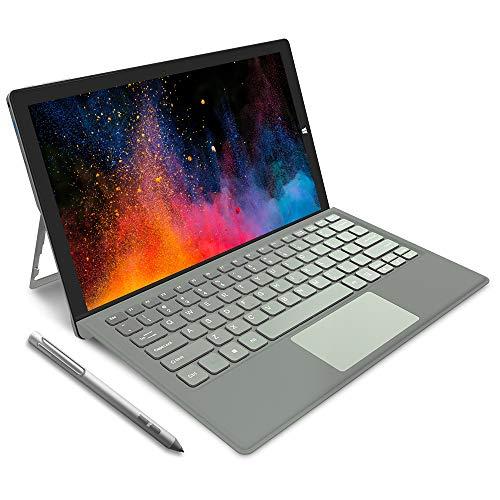 Jumper EZpad Go フルHDタッチスクリーン2in1タブレットPC, 11.6 インチ ノート パソコンwindows10搭載 4GB RAM 64GB / 128GB SSD金属支柱スタイラスペン 付属 (128G,キーボード付き)