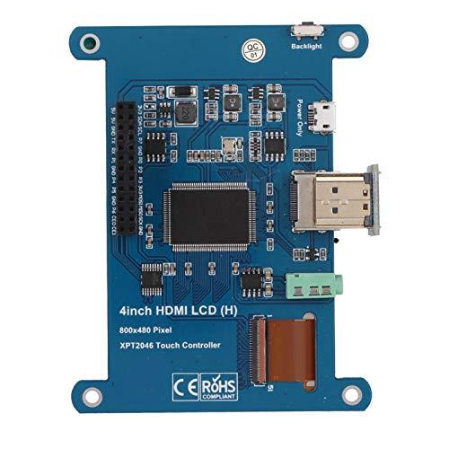 Socobeta Pantalla táctil HDMI de Alta Velocidad con resolución 800 X480, ángulo de visión de 178 °, 4 Pulgadas para Raspberry Pi