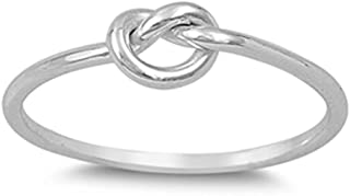CHOOSE YOUR COLOR Sterling Silver Knot Ring