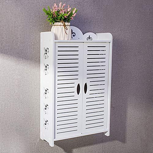 SXFYZCY Badezimmerschrank Eitelkeitsregal Badezimmerkosmetik Wandschrank Mehrschichtregal frei von Lochschränken, weiß