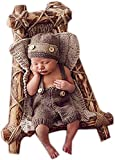Pinbo Newborn Baby Knitted Costume Outfits Photography Props Hat Suspenders