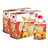 Happy Tot Organic Stage 4 Super Foods Apples & Butternut Squash + Super Chia, 4.22 Ounce Pouch (Pack of 16) (Packaging May Vary) Non-GMO Gluten Free 3g of Fiber Excellent source of vitamins A & C