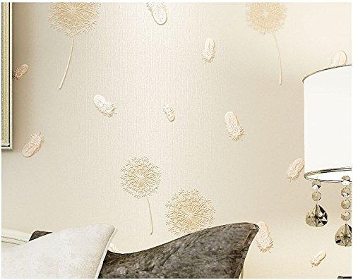 Yosot Modern 3D reliëf paardenbloem vlies behang slaapkamer woonkamer tv achtergrond geel (light yellow)
