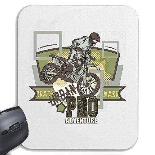 Reifen-Markt Mousepad (Mauspad) PRO Adventure Motocross 125CCM Moto-Cross Freestyle Motocross Motorrad Sport Bekleidung Biker Motorrad Bike Maschine für ihren Laptop, Notebook oder Internet PC (mit W