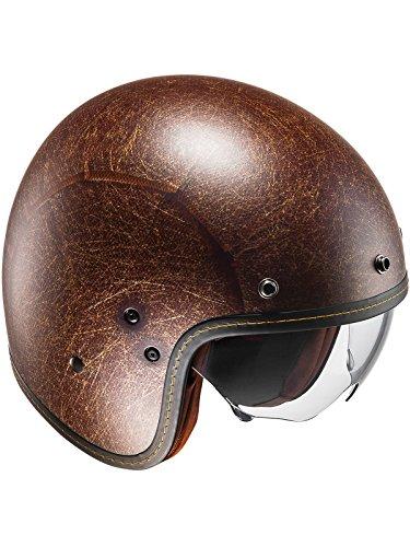 F7VMBRM - HJC FG-70S Vintage Open Face Motorcycle Helmet M Semi Flat Brown