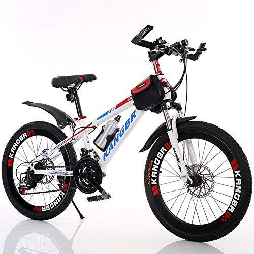 LYzpf Bicicleta de Montaña MTB 26 Pulgadas 21 Velocidades Aleación Marco Más Fuerte Freno Disco para Hombre Adulto Mujer Estudiante,Red,20inch