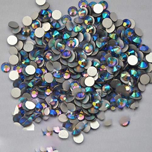 Lot de 1440 strass pour nail art tanzanite AB à dos plat sans colle