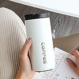Taza de café reutilizable Rcup 350 ml 500 ml de acero inoxidable termo portátil al vacío botella térmica de viaje, taza de aislamiento, color blanco, 500 ml