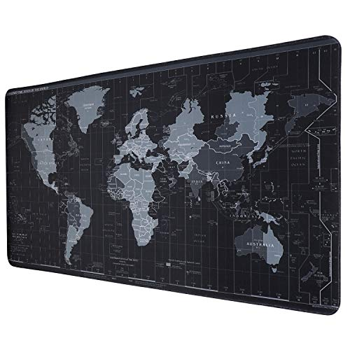 RGB Gaming Mouse Pad Large, Soft Oversized Glowing Extended LED Mousepad with 10 Lighting Mode, Anti-Slip Rubber Base and Waterproof Surface Computer Keyboard Pad Mat - 31.5 x 11.8in
