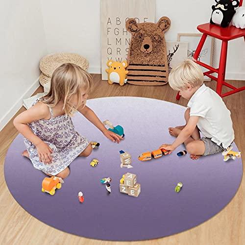 Alfombras de Degradado púrpura para la decoración de la Sala de Estar Felpudo de la habitación de los niños para la Alfombra del área del Dormitorio Alfombras Redondas Modernas-D_80