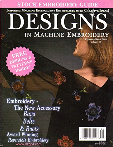 Buy Discount {Embroidery} Designs in Machine Embroidery {Volume 19, February/March 2003}