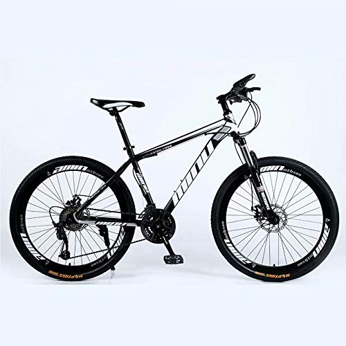 "NOVOKART-Mountain Bike Unisex, Bicicletas Montaña 24 "", MTB Hombre, Mujer, Freno Doble Disco,Negro, 21-speed Shift, Rueda Radios"