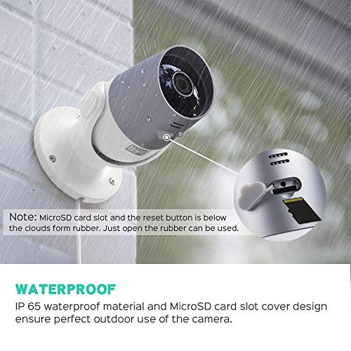 Outdoor Security Camera, Panamalar Smart 1080p WiFi IP Camera with Alexa Voice Control, IP65 Waterproof Surveillance System, Night Vision, 2-Way Audio, Motion Detection, Remote Access from Smartphone