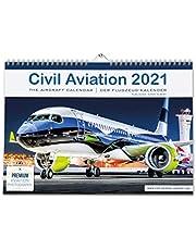 Civil Aviation 2021 – kalendarz na rok 2021 dla wszystkich fanów samolotów. Nowoczesne samoloty firmy Airbus, Boeing. 42 x 30 cm kalendarz samolotowy » DIN A3 kalendarz ścienny