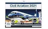 Civil Aviation 2021 – El calendario de vuelos 2021 para todos los amantes de los aviones, aviones modernos de Airbus, Boeing. 42 x 30 cm, DIN A3, calendario de pared para aviones