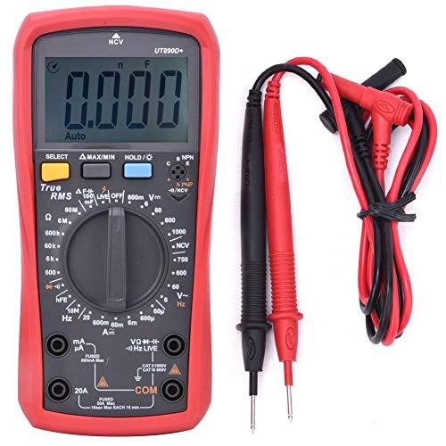 UT890D+ multimeter 6 000 siffror äkta RMS AC spänningsprovare DC AC strömmotstånd kapacitans frekvensmätare