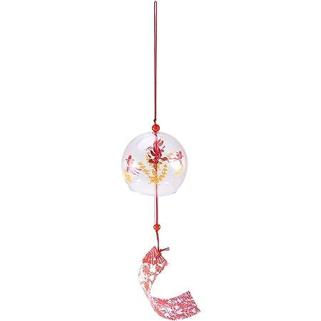 rongweiwang Japonais Vent Cloche Floral Cloche Vent Verre Wind Chimes Accueil Salon Bureau Cosplay Hanging D/écoration