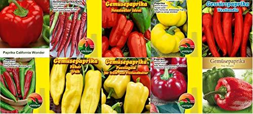 Paprikasamen Set 10 Sorten Paprika Saatgut Samen Mix Feher Yolo California Wonder