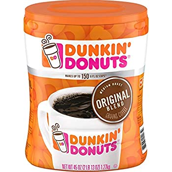 Dunkin  Donuts Ground Coffee Original Blend Medium Roast 90 Ounce