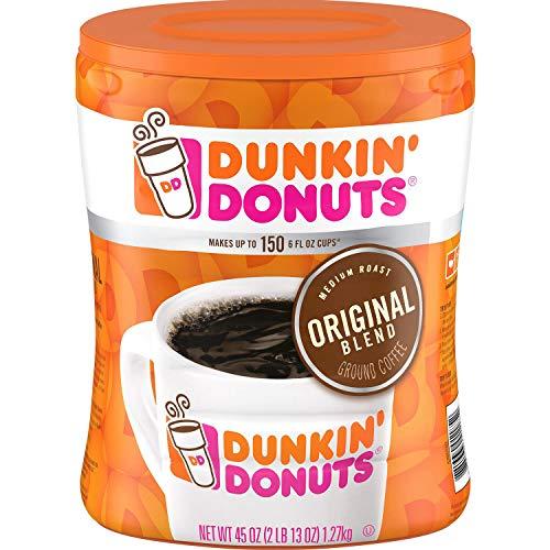 Dunkin#039 Donuts Ground Coffee Original Blend Medium Roast 90 Ounce