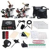 Dragonhawk Professional Great Beginner Tattoo Kit 2 Machine Guns Tattoo Supply D53EUYMX
