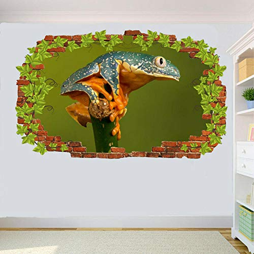 Wandtattoo Wild Animal Pond Colorful Frog Decal Art Mural Printing Poster Decoration