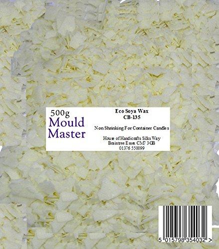 Moldmaster - Bolsa de Cera de Soja ecológica para Velas (500 g),...