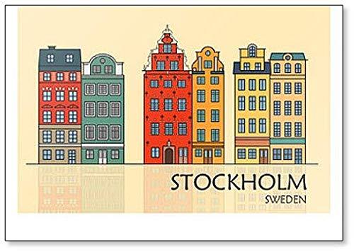 Old Town Of Stockholm - Imán para nevera, diseño de Suecia