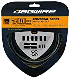 Jagwire - Universal Sport DIY Brake Cable Kit | for Road and MTN Bike | SRAM and Shimano Compatible | Carbon Silver