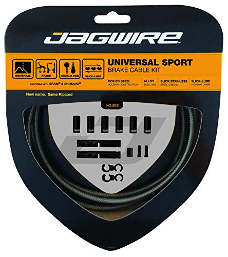 Jagwire - Universal Sport DIY Brake Cable Kit   for Road and MTN Bike   SRAM and Shimano Compatible   Carbon Silver