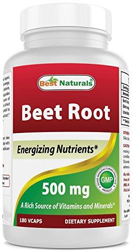 Best Naturals Beet Root Powder 500 mg 180 Capsules