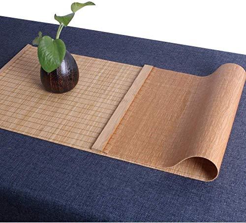 WYJW Tischläufer Tischläufer im klassischen japanischen Stil, rutschfeste Tischsets aus Bambus, rechteckige Tischdecke für die Wohnküche (Größe: 40 x 60 cm)