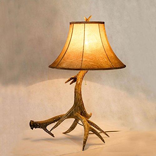 Amerikanischen Land Geweih Tischlampe Europäischen Stil Retro Villa Modell Zimmer Weiche Zimmer Wohnzimmer Schlafzimmer Nachttischlampe XXPP