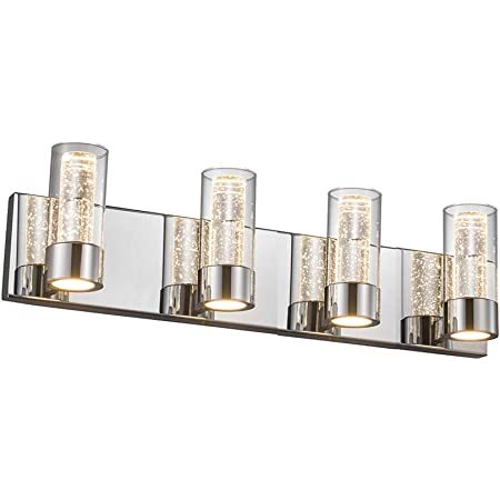 Jinzo Led Bathroom Vanity Light Fixture Bathroom Lights 3 Lights Vanity Bar Light Polished Chrome Finish