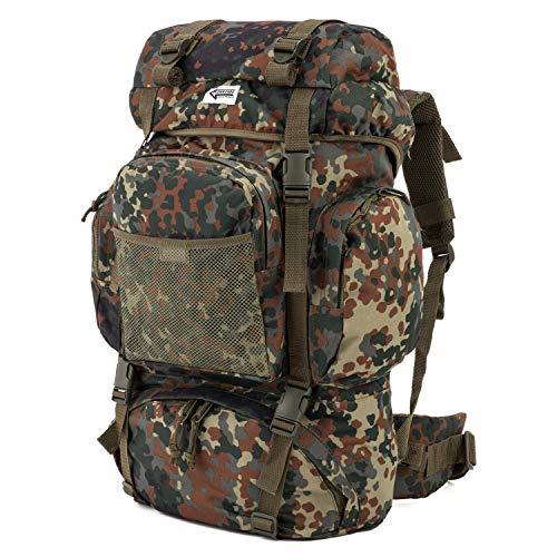 Commando Industries Tactical Rucksack Wanderrucksack 65 L (Flecktarn)