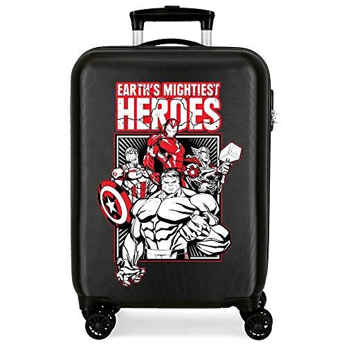 Marvel Los Vengadores Mightiest Heroes Maleta de Cabina Negro 38x55x20 cms Rígida ABS Cierre de combinación Lateral 34L 2,66 kgs 4 Ruedas Dobles Equipaje de Mano