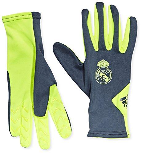 adidas Erwachsene Handschuhe Real Madrid Field Player Gloves, Deepest Space/Solar Yellow, S