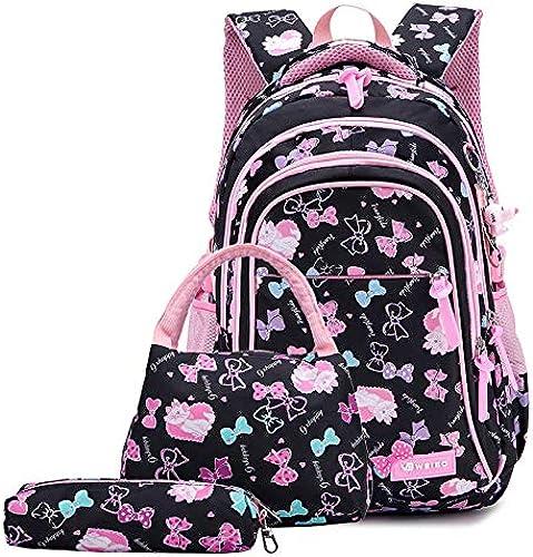 LFSHUB Kinder Schultaschen Für mädchen Weißiche Schulrucks e 3 Stücke Set (Handtasche + Federbeutel + Rucksack) Bogen füral Nylon Kinder Rucksack mädchen