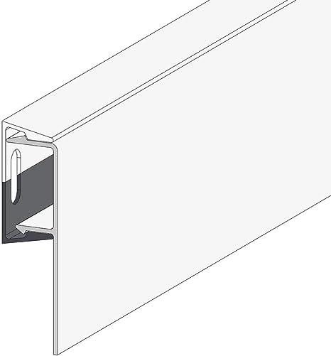 1 Set /á 10 Meter Wei/ß//Anthrazit PROTEKTOR Noppenbahnprofil Universal f/ür den Au/ßenputz