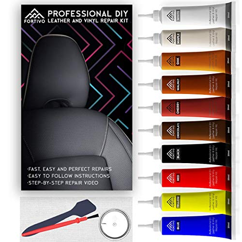 Leather Repair Kits for Couches | Vinyl Repair Kit - Furniture, Car Seats, Sofa, Jacket, Purse, Belt, Shoes | Genuine, Italian, Bonded, Bycast, PU, Pleather |No Heat Required | Repair & Restore