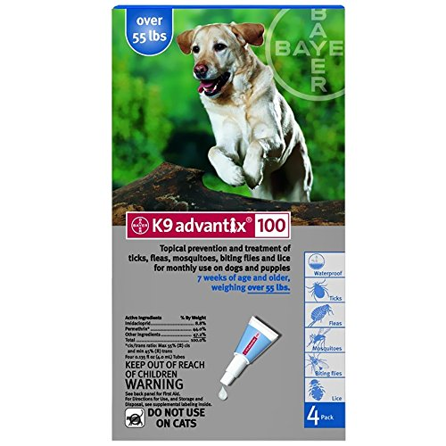 K9 Advantix Flea Control for Dogs Over 55 Pounds (4 Applications) by K-9 Advantix