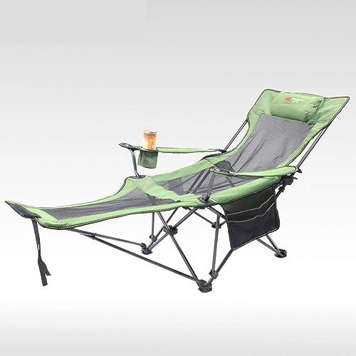 ch-AIR Klappstuhl im Freien Liegestuhl (162  62  38cm) Mittagspause Stuhl tragbare Freizeit Stuhl Camping Strand Liegestuhl mit Becherhalter mit Aufbewahrungstasche