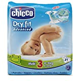 Chicco DryFit - Pack de 21 pañales ultra absorbentes, talla 3, 4-9 kg