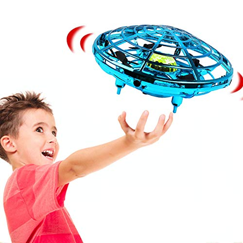 CKATE Hand Operated Drone for Kids Adults, Flying Toys Mini Drones, Hands Free UFO Helicopter, Easy Indoor Outdoor Flying Ball Drone Toys with 360° Rotating for Boys Girls…