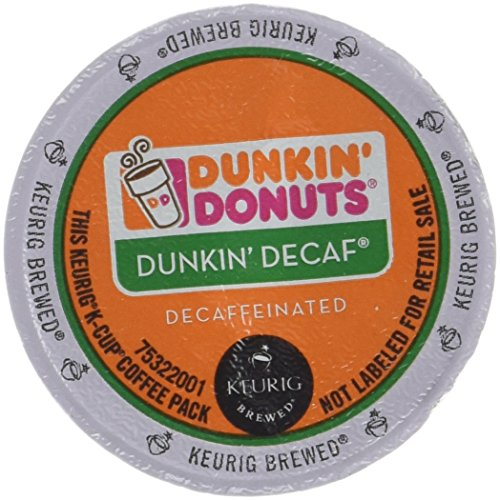 Dunkin Donuts Decaf Coffee K-Cups For Keurig K Cup Brewers - 32 Pack