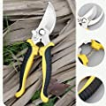 N/D Pruning Shears 7.5in Gardening Tool Non-Slip and Labor Saving Manual Pruning Shears Tree Branch (Yellow-Black)