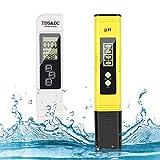 misuratore ph, ph tester, misuratore ph e cloro piscina, misuratore ph acqua 4 in 1 ph e tds/ec temperatura tester e lcd digitale display, ph metro per acquari,piscine,acqua potabile,laboratorio