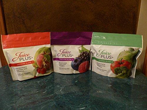Juice Plus Chewables - Orchard, Giardino & Vineyard Blends 120 Ct Borse 1 Ogni