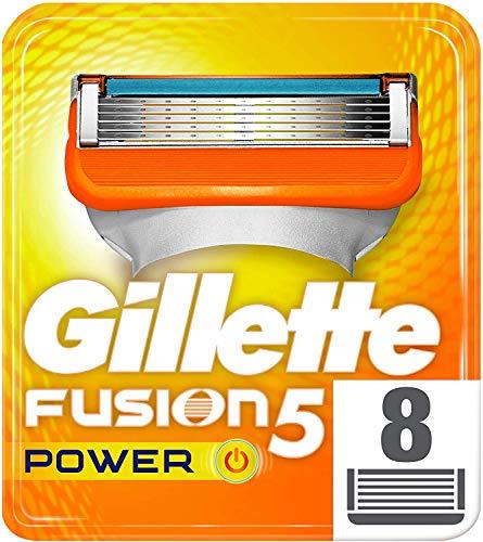 Gillette Fusion5 Power Lamette di Ricambio, 8Pezzi, Pacchetto per Casella Postale