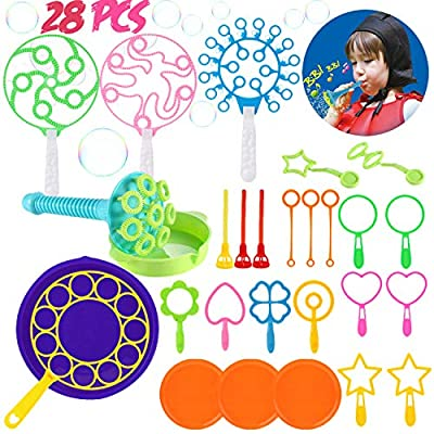 Dorakitten Big Bubble Wands,28 PCS Bubble Making Toys for Outdoor,Bubble Wand Set for Kids,Bubble Wands Set Bubbles Party Favors Supplies for All Age People from Dorakitten